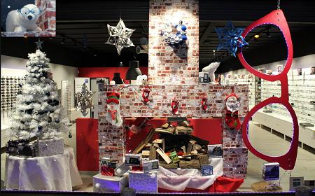 vitrine de Noël Dieppe
