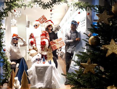 vitrine de Noël Franconville