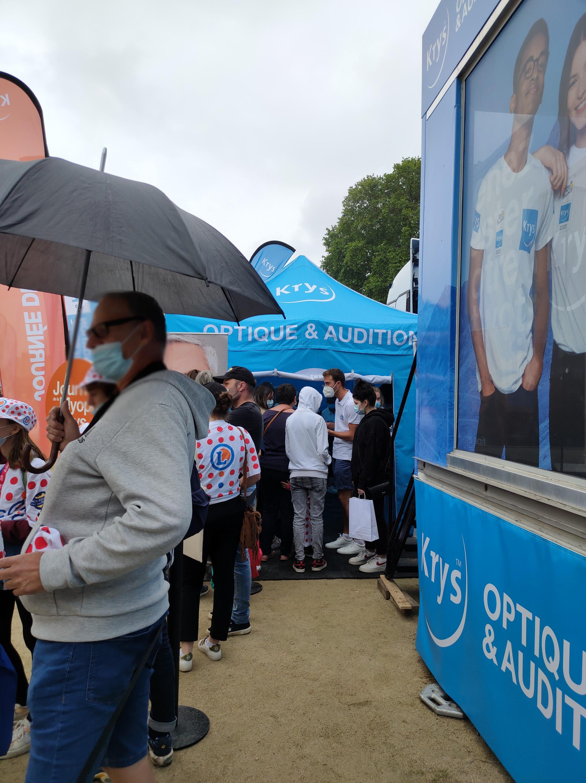 Malgré la pluie fine, la foule était au rendez-vous