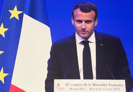 Discours d'Emmanuel Macron lorsCongrès de la Mutualité Française