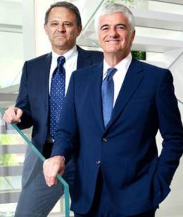 Giovanni Zoppas, CEO de Thélios et Antonio Belloni, Directeur général délégué de LVMH