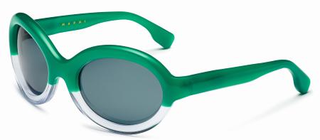 Marni - modèle solaire vert/translucide