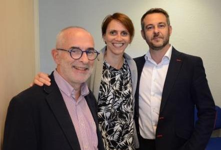 Jean-Michel SANET (NOVACEL), Laëtitia VILLAUME (NOVACEL), Nicolas BROUQUEYRE (NOVACEL) ©Institut et Centre d'Optométrie