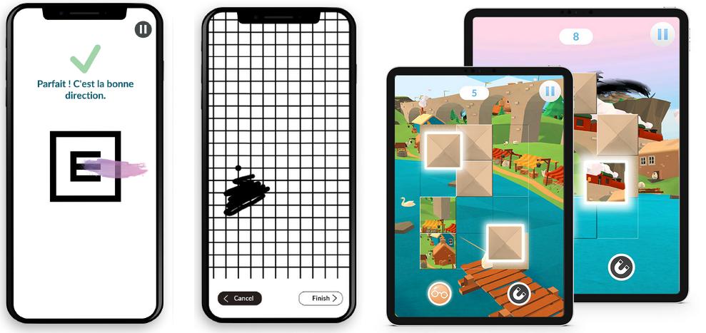 Tests d'acuité visuelle et puzzle 3D