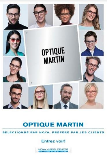 Visuel publicitaire de vitrine; certificat de l'opticien expert agréé