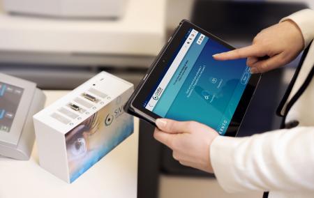 Solution Siview : un boîtier etune application sur tablette