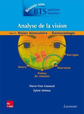 Sortie du tome 2 « Analyse de la vision » pour réussir son BTS OL