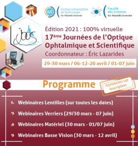 Début des 17e Journées de l'Optique Ophtalmique et Scientifique