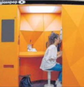 Prototype de la cabine Glasspop