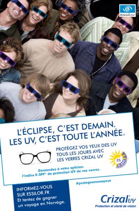 « L'éclipse, c'est demain. Les UV, c'est toute l'année », Essilor repart en campagne pour la santé visuelle !