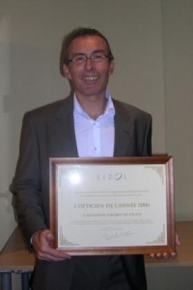 Thierry de Cecco, opticien Krys dans le Val d'Oise, élu opticien de l'année 2006