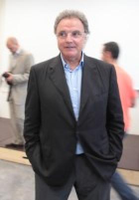 Parrain de la promo 2012, Alain Afflelou s'exprime devant les étudiants de l'ICO