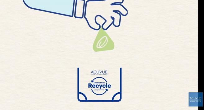 Acuvue contact lens recycling program Johnson & Johnson