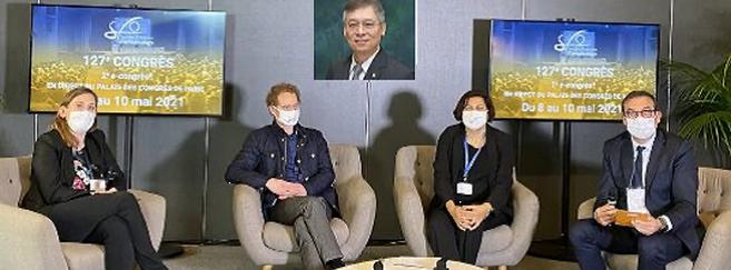 L'équipe présente à la SFO pour dévoiler les résultats à 36 mois de l'étude sur Hoya Miyosmart