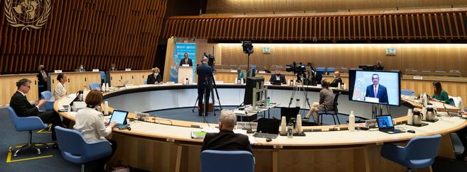 La 74e Assemblée mondiale de la santé, qui s'est déroulée en grande partie en distanciel