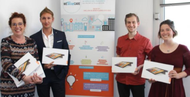 Des bénéficiaires de l'initiative conjointe du groupe Afflelou, Cofidis et WeTechCare