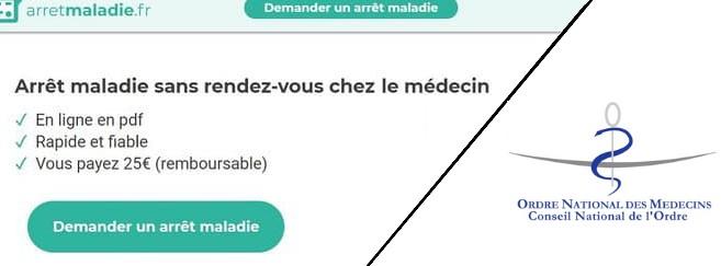 Le Cnof avait contesté l'existence du site arretmaladie.fr