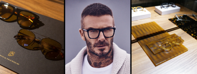 La légende du football David Beckham collabore avec Safilo