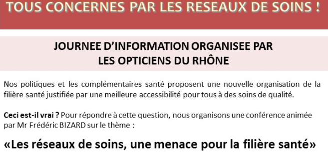 Les opticiens de Lyon se rassemblent en masse pour faire face aux réseaux de soins