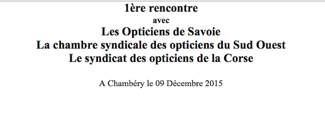 Les Opticiens de Savoie, de Corse et du Sud-Ouest se mobilisent pour une journée d'échanges, le 9 décembre