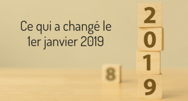 Changements janvier 2019