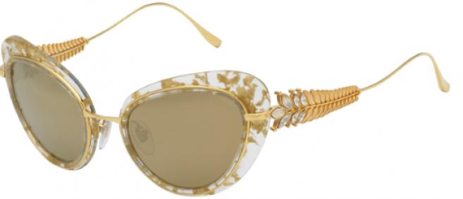 Modèle en acétate transparent avec feuilles dorées - Chopard