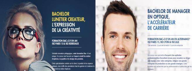 L'Iso lance 2 formations : Bachelor de Lunetier Créateur et MBA stratégies marketing-commerciales