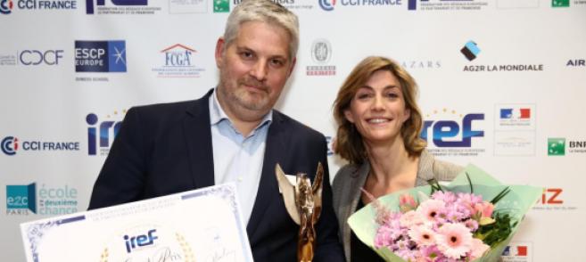 Frédéric Rogy (Afflelou), reçoit le grand prix de l'Excellence professionnelle