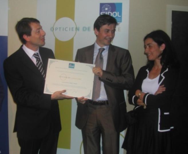 Eric Plat, adhérent Atol en Gironde, élu Opticien de l'année 2008