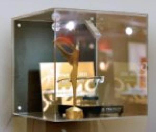 Silmo d'Or 2010, l'étonnant présentoir Tag Heuer présente les lunettes en apesanteur