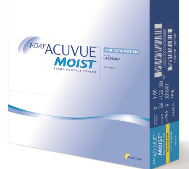 1-Day Acuvue Moist for Astigmatism désormais disponible en boîte de 90