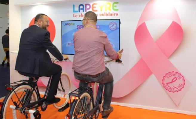 Animation vélo solidaire organisée au Silmo 2019