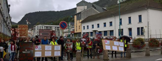 Logo : Les salariés manifestent pour la sauvegarde de leur usine et de leurs emplois