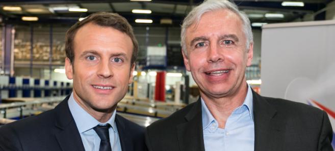 Emmanuel Macron à Bazainville :