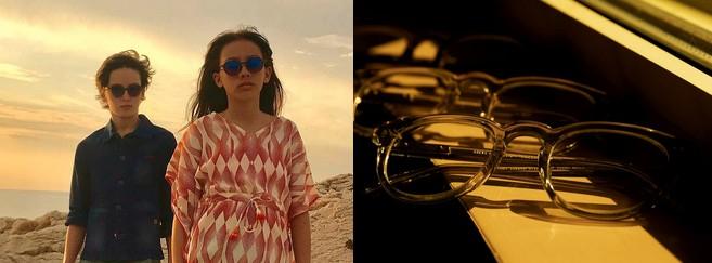 Modèles Sunchild Eyewear (à gauche) et Steve McQueen (à droite)