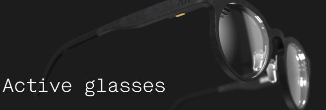 La presbytie compensée par des lunettes électroniques
