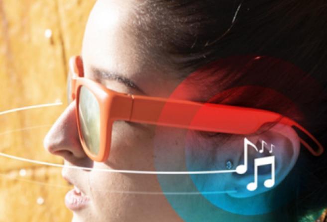 Des lunettes pour écouter de la musique