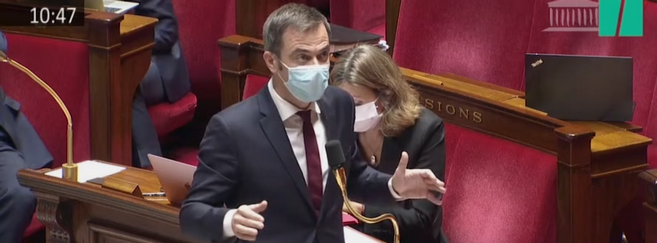 Olivier Véran a participé au débat à l'Assemblée nationale