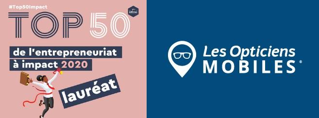 Le réseau Les Opticiens Mobiles récompensé dans le top 50 de l'entrepreneuriat à impact