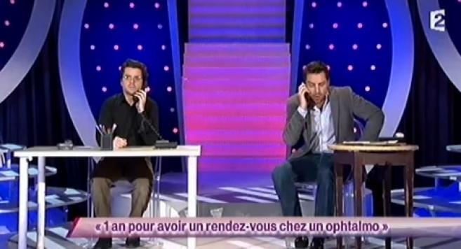 Les délais d'attente chez les ophtalmos caricaturés dans un sketch sur France 2