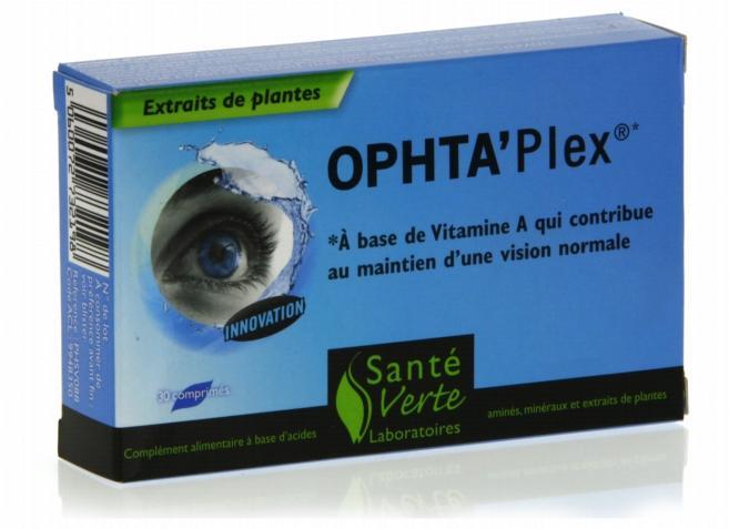 Ophta'Plex : 16 nutriments pour agir sur tous les paramètres des fonctions visuelles