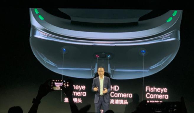 Oppo a présenté ses nouvelles lunettes lors de sa convention annuelle Oppo Inno Day à Shenzhen (Chine)