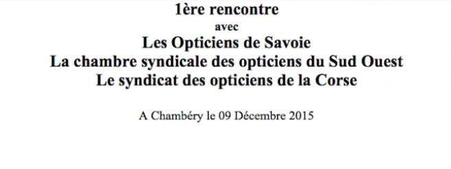 Programme définitif de la journée d'échanges du 9 décembre avec les Opticiens de Savoie