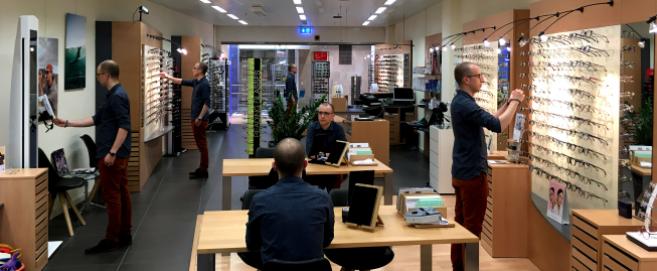 Magasin Optique Messerli d'une surface de 120 m² dans le centre commercial Marly-Centre
