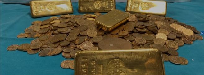 1 000 pièces de 20 Francs or et 5 lingots d'or découverts !