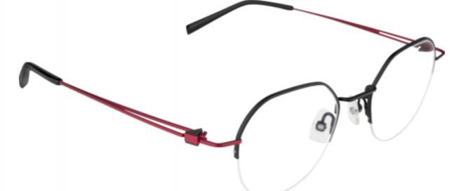 Modèle optique -noir/rouge