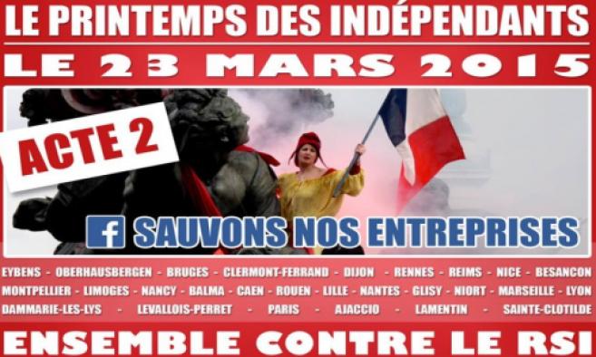 RSI : Manifestation des indépendants, acte 2 !
