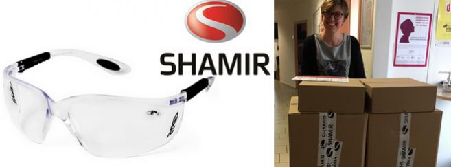 Un don de 1 600 lunettes de protection par Shamir France