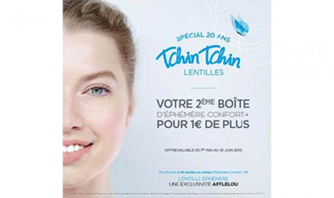 Alain Afflelou décline son offre « Tchin-Tchin » en contactologie