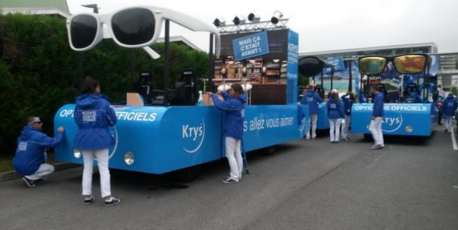 Krys, opticiens officiels du Tour de France : l'étape avec Benoît Potterie et ses collaborateurs